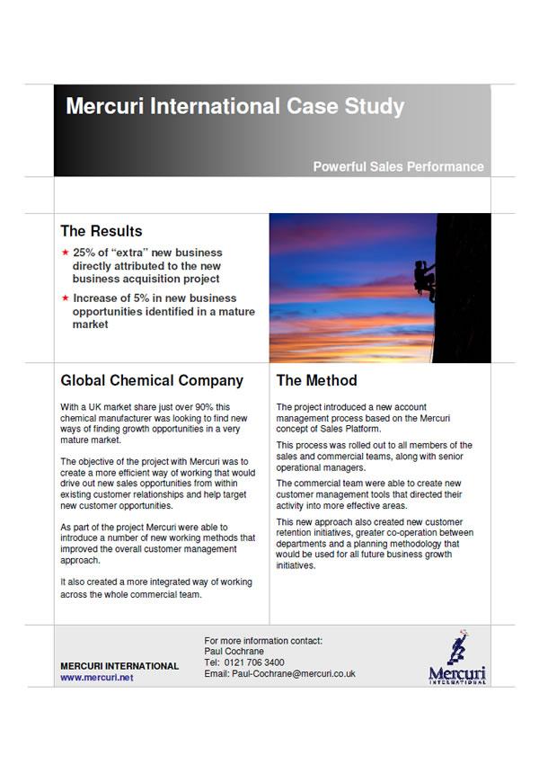 Prípadová štúdia Global Chemical Company
