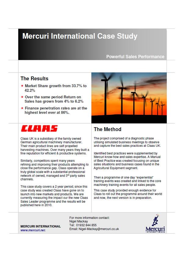 Prípadová štúdia Claas UK